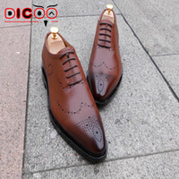 bespoke mens shoes - Luxury bespoke goodyear welted shoes beautifully carved leather mens dress shoes designer shoes male safety shoes formal flats