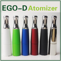 Non-Replaceable ego cigarette - Ego D Skillet Wax Atomizer Dual Ceramic Coils Dry Herb Vapor Atomizers Vape E Cigarette Tank Herbal Vaporizer Pen Ego Atomizers Multi Colors