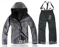 Wholesale The new men s outdoor jacket in1 WINDSTOPPER rain coat warm winter ski jacket fleece jacket inside