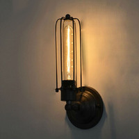 Wholesale Loft Style Vintage Industrial Edison E27 wall light Home Decoration Lighting Cafe Bar Restaurant Wall Lamps order lt no track