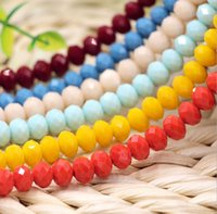Wholesale mm crystal Loose beads DIY craft accessories beads Solid color glass charm bracelets necklaces Fashion cheap jewelry AL