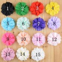 Cheap 15 Colors! Chiffon Bloosom Flowers 30pcs, Fabric Flowers, Flower Heads,Hair Bows Flowers, Hairbow Embellishment