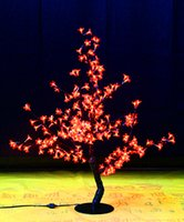 led cherry tree - LED Artificial Cherry Blossom Tree Light Christmas Decoration Light Outdoor or Indoor Lamp LEDs m quot Height Red