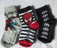 cartoon children socks - Cartoon Spiderman Best Socks Kids Sock Children Socks Boys Girls Ankle Socks Child Clothes Kids Clothing Kid Crochet Cotton Sock C6188