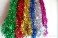 Wholesale 2 meters christmas tree Xmas decoration strip garland christmas ribbons decoration Christmas thicken ribbon home decor Mix colors PS11D