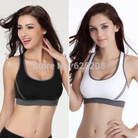 Wholesale Hot new Women Athletic Sports Bras Crop Bra Tops Seamless Racerback Padded