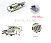 Wholesale X Auto Car Light Bulb SMD LED T10 W5W V Cold White Interior Parking Projector Lens colors