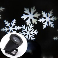 Wholesale New Free drop shipping IP66 Outdoor Waterproof LED Laser Light Xmas White Snow Landscape Stage Light V V Stage Laser Projector