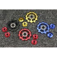 Wholesale 11T Aluminum Tension Guide Pulley Set Jockey Wheels Rear Gear Mech Derailleur