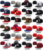 fitted hats - Cheap Fitted Hats All Teams Sports Caps Best Baseball Fitted Caps Fashion Sports Caps Team Hats Flat Caps Many Styles Allow Mix Order