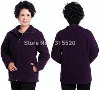 age sweatshirts - Sweatshirts Middle aged mother jacket coat sweater Chinese Collar shake velvet jacket material Sweatshirts