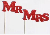 Libre del envío DIY Sr. Sra documento de la Junta + cinta Regístrate Photo Booth Wedding Party Props del favor de la decoración para la orden de la boda $ 15 sin seguimiento