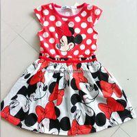 Cheap Minnie Mouse Princess Dress Children Dresses Girl Dress Kids Summer Dresses Children Clothes Kids Clothing Infant Dress Baby Dresses L42008