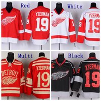 Wholesale 2014 Winter Classic Steve Yzerman Jersey Detroit Red Wings Hockey Jerseys Home Red White Black Ice Stitched C Patch Jersey