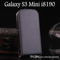 Cheap Genuine Leather Case For Samsung Galaxy S3 Mini I8190 Flip Cover RCD02401 _15% OFF for 2PCS!