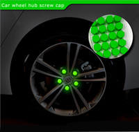 Wholesale NEW Hottest Car Styling Silica Gel green Wheel Nuts Covers Protective Bolt Caps Hub Screw Protector