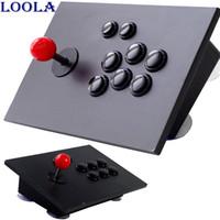 Precio de Pc joystick-Joystick mayor-arcade de pc negro juego de ordenador controlador conector usb Arcade Sticksss nuevo rey de los combatientes Joystick Consolas