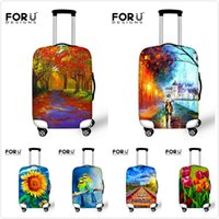 Wholesale Thick Elastic Luggage Protective Cover With Ziper For inch Trunk Case Waterproof Travel Suitcase Cover
