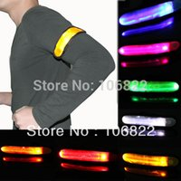 Wholesale LED Flashing Glow Flexible Armband Reflective Safety Visible Hiking Biking Green