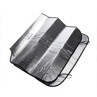 Wholesale 2pcs Foldable Car Auto Front Rear Windshield Sunshade Sun Shade Visor Side Mesh Shield Car Half Cover cm