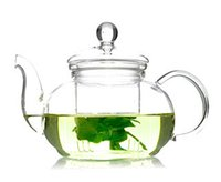 Wholesale ml Flower Glass Teapot large blooming chinese glass teapots high quality heat resistant glass tea pots infuse