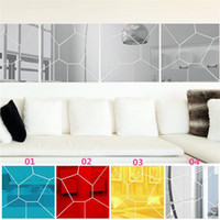 acrylic bathroom set - New Arrivals set Wall Stickers Wallpaper Decal Mirror Moire Pattern Home Decor Removable Size mm JM2