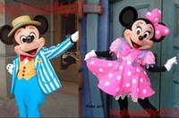 2015 Traje de la mascota de Mickey Mouse de alta calidad Mickey mascota Minnie mascota Minnie mascota vestido de rosa