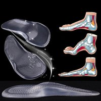Wholesale 2016 silicone gel foot care arch pad orthotic pad orthopedic insole flat foot pad Non Slip Pain Relief Shoes Insoles