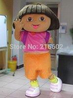Wholesale EVA High quality of DORA the explorer adult costume love expeditionary DORA mascot costume plush cartoon