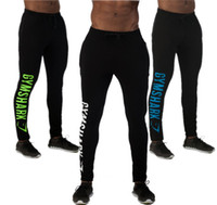 Wholesale Gym Sport Pants Men Brand Gymshark Training Running Tights Sweatpants Trousers Mens Cotton Black Jogging Pants Boys Joggers