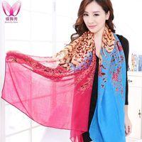 Wholesale new autumn and winter Korean version dual use warm cotton printed long scarf shawl female Bao Dai003