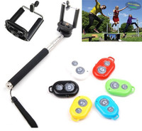 alloy controller - Extendable Self Selfie Stick Handheld Monopod Clip Holder Bluetooth Camera Shutter Remote Controller for iPhone Samsung Phone Retail Box
