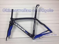 Wholesale 2014 DIY customized color black blue T1000 K Full carbon bike frame dogma THINK2 Torayca Carbon fiber road bike bicycle frameset