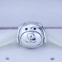 dog charms - Autumn New Original Sterling Silver Charms Pet Devoted Dog Charms Fits Pandora Bracelet DIY Jewelry CE690