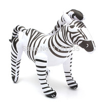 african zebra - 2pcs Inches Giant Inflatable Lifelike Zebra Blow up Zoo African Animal Replica Party Toy