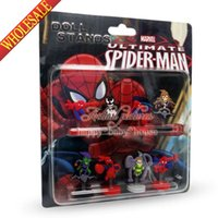 action figures spider man - Creative Christmas Gifts Spider Man Novelty Spring dolls Action Figures Stand up dolls Furnishing articles dolls Shaking Head Dolls