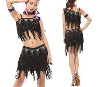 Cheap Latin Dancing Accessories Best Dots Cotton Cheongsam Dancing Dresses
