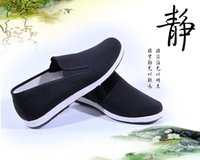 Lace-Up beijing kung fu - Chinese Kung Fu Cloth Shoes Old Beijing Hand made Cloth Shoes Chinese National Style Wing Chun Training Shoes