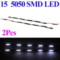 Wholesale Hot Sale set LED SMD Vehicle Auto Light Car White Light led decoration Strip V free shipp