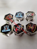 angle grinder machine - 6pcs hexagon layers six angles tobacco Grinder Herb hand muller Spice Crusher zinc alloy Grinder rolling machine metal smoking pipe