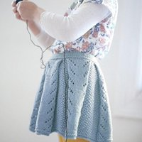 Wholesale 73 cm Winter Autumn Toddler Baby Girls Knit Jacquard Pleated Skirt Infant Bust Dress Cute Blue Rose Red
