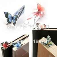 Wholesale Promotion Vintage Butterfly Bookmark Paper Book Mark Marker Gift Card Office School Supply Index Drop Shipping