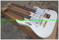 Cheap 2013 New HOT white 7V   JEM77 Double neck electric guitar 12 String guitar & 6 String electric guitar free shipping One neck (No Scarf)