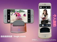 Wholesale Selfie Robot Auto face tracking multi mode degree rotate take picture free portable selfie robot Cell Phone Shaft Stand Holder new