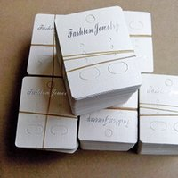 Wholesale 3 cm jewelry accessory white earring card factory earring display cards very cute earrings cards