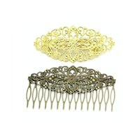 Wholesale Beadsnice hair clip metal hair barrettes filigree hair comb summer jewelry hair accessories for women mix style ID