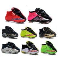 Wholesale Original new Mercurial superfly FG soccer shoes men outdoor CR7 soccer boots top soccer cleats sports football shoe de futbol
