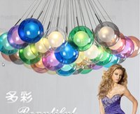 lamps stained glass - Living room lamp personality creative minimalist modern bedroom lamp stained glass ball chandelier