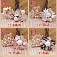 Wholesale Cheap Pink Ornaments - 4 Styles Crystal Pearls Jewelry Ornaments For Wedding Bouquets Cheap Free Shipping Pink Black Wedding Supplies For Flowers