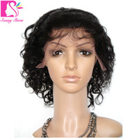 bank beauty - 7A Glueless Full Lace Human Hair Wigs For Black Women Malaysian Virgin Hair Kinky Curly Lace Wig inch Queen Hair Wigs Beauty Curly